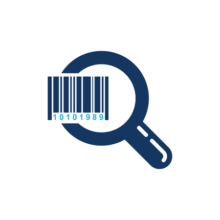 Barcode Search Logo Icon Design