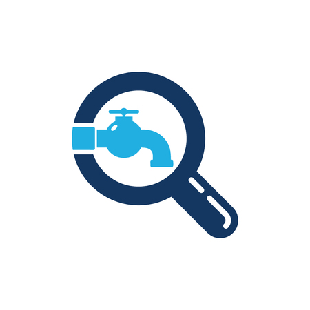 Plumbing Search Logo Icon Design