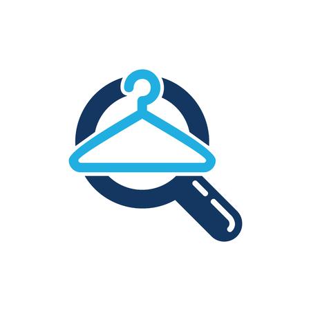 Laundry Search Logo Icon Design