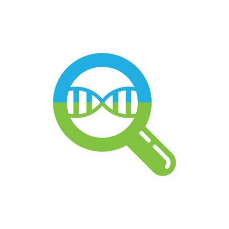 Dna Search Logo Icon Design