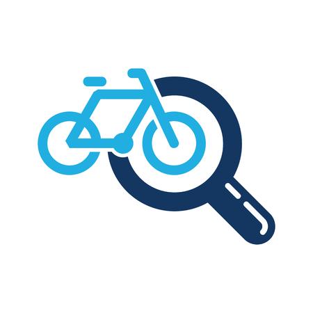 Bike Search Logo Icon Design