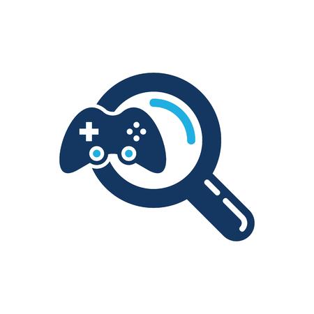 Game Search Logo Icon Design
