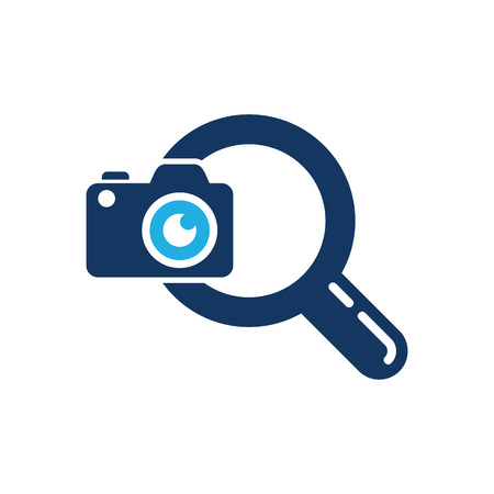 Camera Search Logo Icon Design