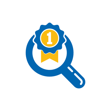 Best Search Logo Icon Design Illustration