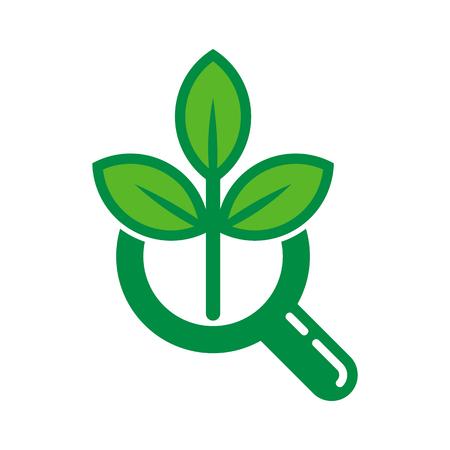 Nature Search Logo Icon Design Ilustração