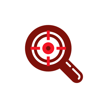 Target Search Logo Icon Design Illustration
