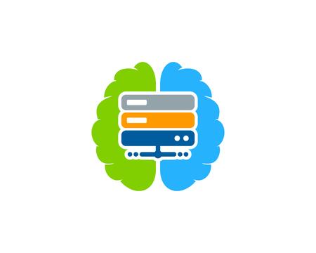 Mind Server Logo Icon Design