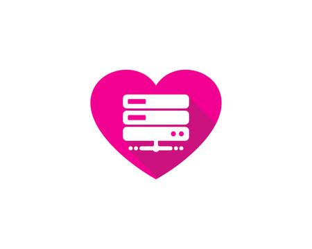 Heart Server Logo Icon Design