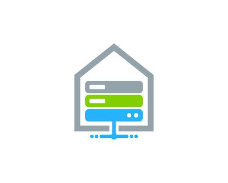Property Server Logo Icon Design