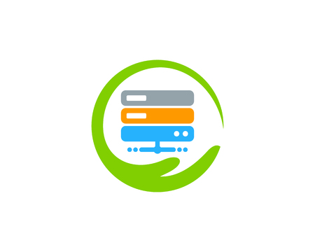 Care Server Logo Icon Design