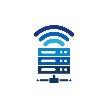 Wifi Server Logo Icon Design