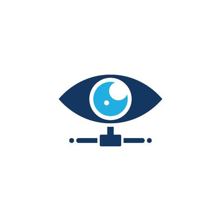 Vision Server Logo Icon Design Archivio Fotografico - 101889093
