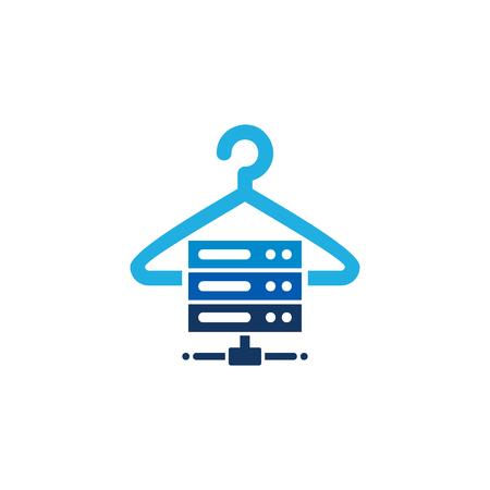 Laundry Server Logo Icon Design
