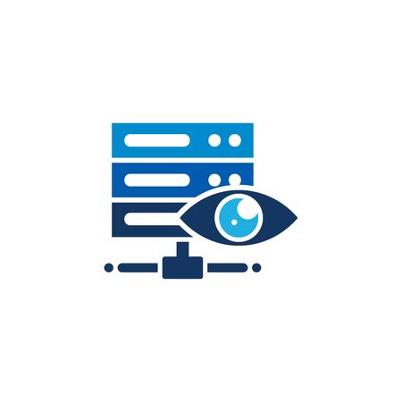 Eye Server Logo Icon Design Archivio Fotografico - 101889110
