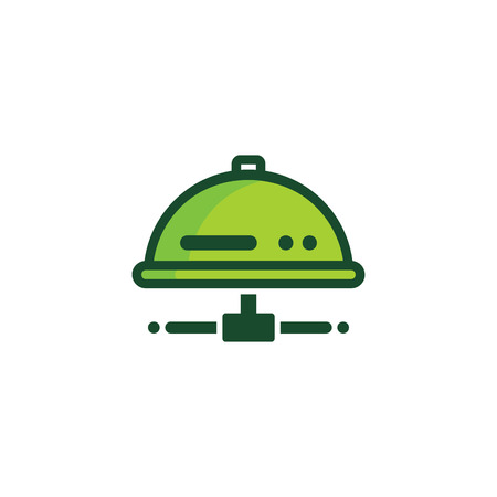 Menu Server Logo Icon Design Illustration
