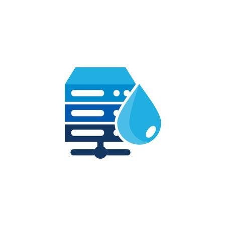 Liquid Server Logo Icon Design