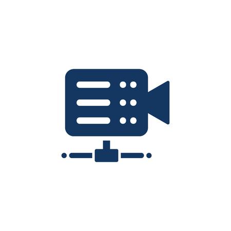 Movie Server Logo Icon Design Illustration
