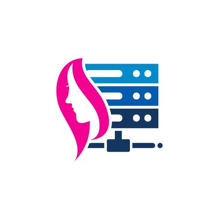 Beauty Server Logo Icon Design Stock Illustratie