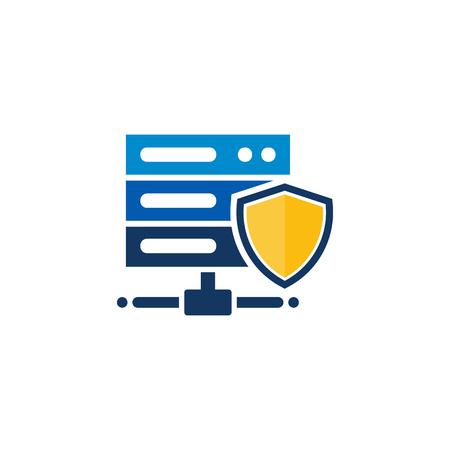 Protection Server Logo Icon Design
