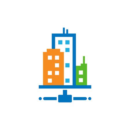 Town Server Logo Icon Design