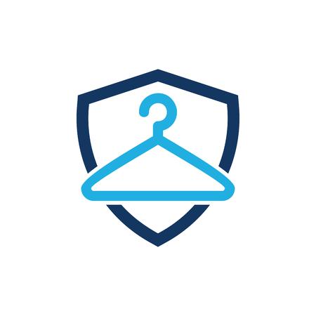 Laundry Shield Logo Icon Design
