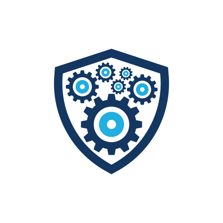 Wheel Shield Logo Icon Design