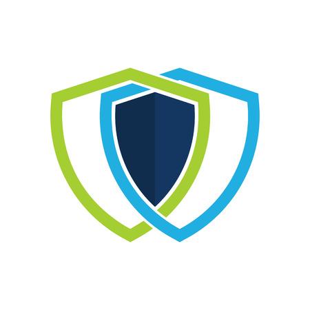 Link Shield Logo Icon Design Vectores
