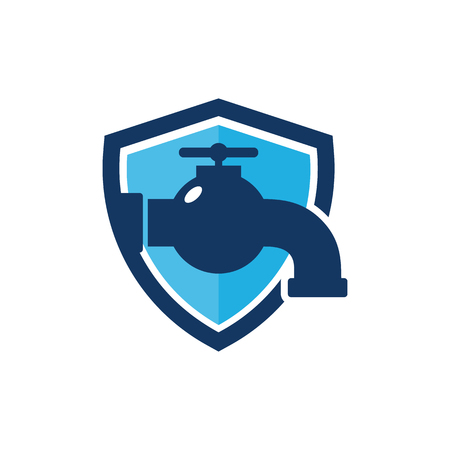 Plumbing Shield Logo Icon Design Illustration