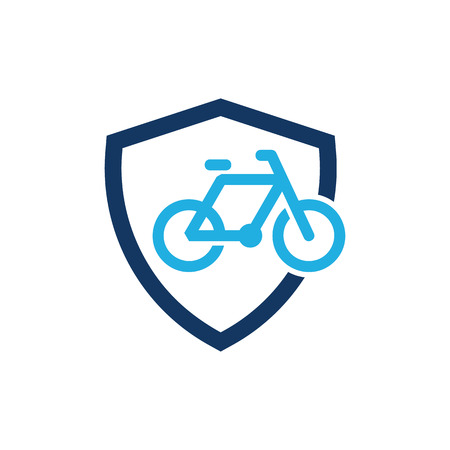 Bike Shield Logo Icon Design Stock Illustratie