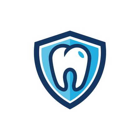 Dental Shield Logo Icon Design