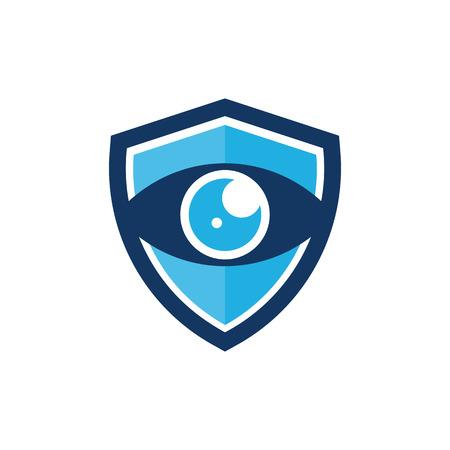 Vision Shield Logo Icon Design