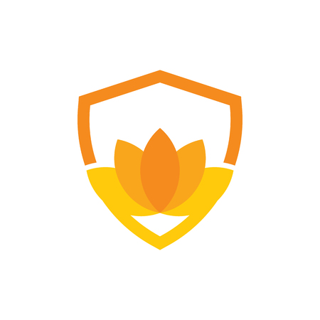 Lotus Shield Logo Icon Design