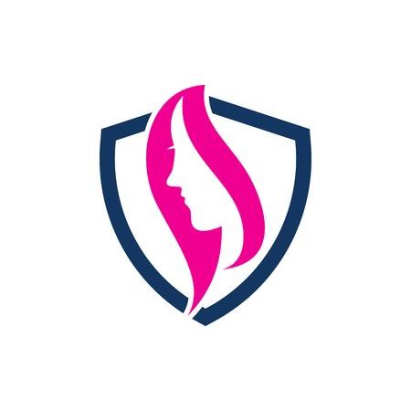 Beauty Shield Logo Icon Design