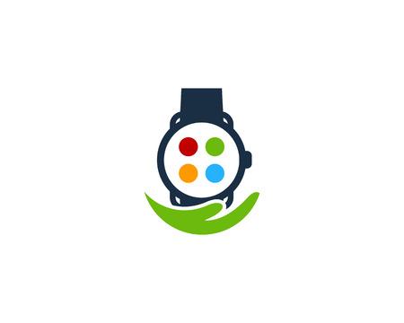 Help Smart Watch Logo Icon Design