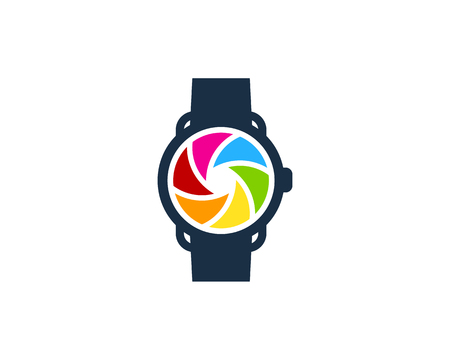 Lens Smart Watch Logo Icon Design