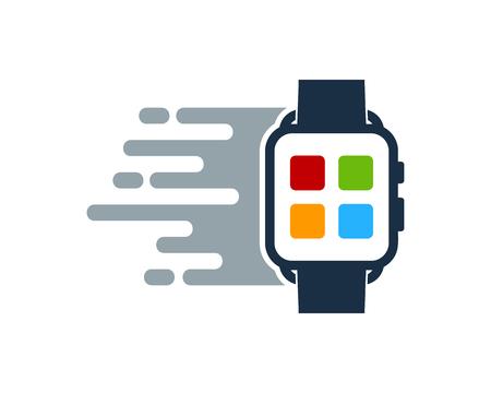 Fast Smart Watch Logo Icon Design