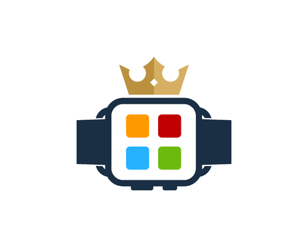 King Smart Watch Logo Icon Design