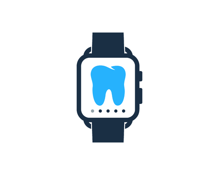 Dental Smart Watch Logo Icon Design