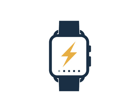 Energy Smart Watch Logo Icon Design Banque d'images - 102100585