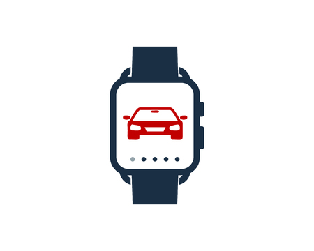 Automotive Smart Watch Logo Icon Design