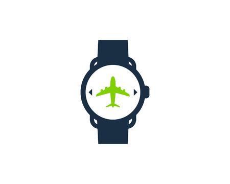 Travel Smart Watch Logo Icon Design