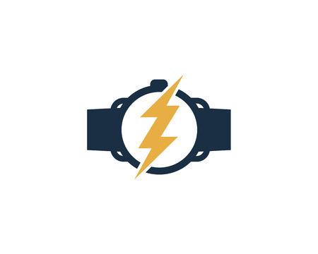 Power Smart Watch Logo Icon Design Ilustração