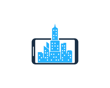 Town Smartphone Logo Icon Design Stock Illustratie