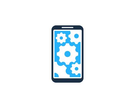 Engineering Smartphone Logo Icon Design Illustration