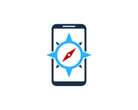 Compass Smartphone Logo Icon Design