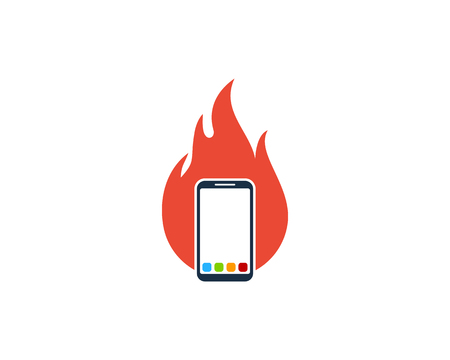 Burn Smartphone Logo Icon Design