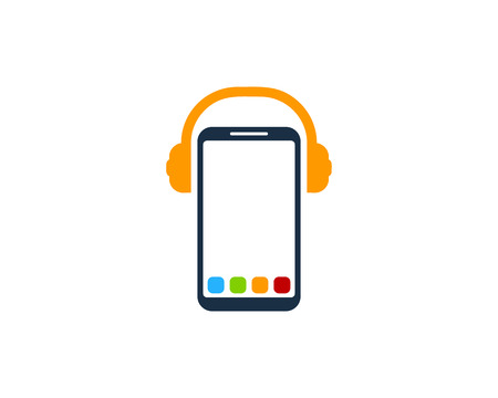 Headphone Smartphone Logo Icon Design