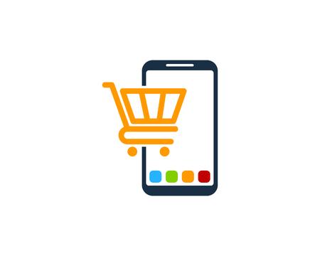 Market Smartphone Logo Icon Design