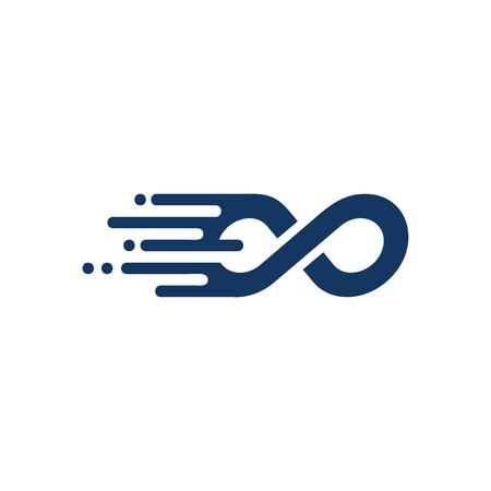 Infinity Speed Logo Icon Design Stock Illustratie