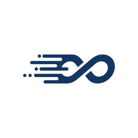Infinity Speed Logo Icon Design Vettoriali